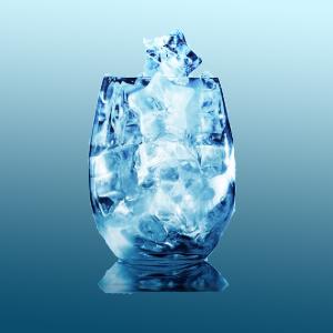 hielo con forma de estrellas